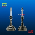 Black Candlesticks lamp 1 pair  LED Super bright with On/off switch  for 1:12 dollhouse miniature